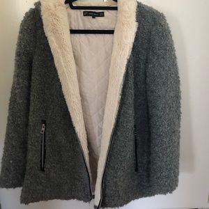 Zara faux shearling coat